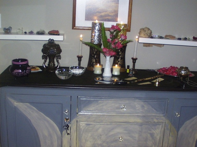 My Beltane Altar, 2012
